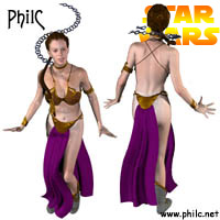 Click to download the 'Princess Leia (Slave Outfit) (by PhilC)'