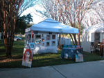 My booth at the Lake Mary/ Heathrow Art festival on Saturday; click for larger image.