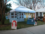 John's booth at the Lake Mary/ Heathrow Art festival on Sunday; click for larger image.
