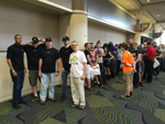 MegaCon 2015: the line waiting to get into the panel; click for larger image.