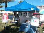 My booth at the Jacksonville Beach Art festival on Saturday; click for larger image.