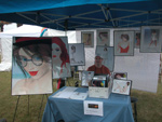My booth at the Jacksonville Beach Art festival on Sunday; click for larger image.