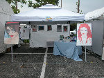 My booth at the Ponte Vedra Art festival on Saturday; click for larger image.