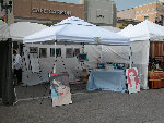 My booth at the San Marco Art festival on Saturday; click for larger image.