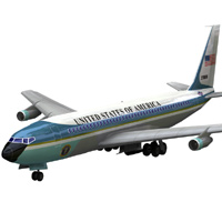 Aircraft 707 Air Force One 'ad image'