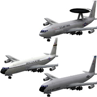 Aircraft 707 E-3 Sentry and KC-135 'ad image'
