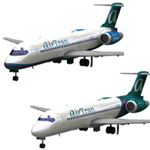 Click to download the 'Airliner 717 AirTran set'