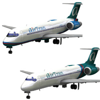 Airliner 717 AirTran set 'ad image'
