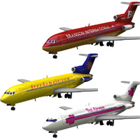 Airliner 727 3-set 3 'ad image'