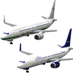 Click to download the 'Aircraft 737 AlaAir and jetBlue 2-set'