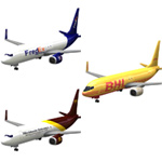 Click to download the 'Aircraft 737 Cargo 3-set'