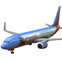 Aircraft 737: Southwest SI Bar Refaeli 'ad image'