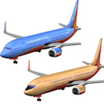 Click to download the 'Aircraft 737 Southwest 2-set'