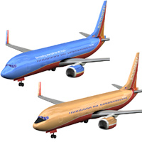 Aircraft 737 Southwest 2-set 'ad image'