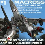 Click to download the 'Wildhog and Warthog Macross Repaints Set #1'