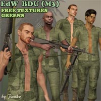 BDU Texture Set - Greens