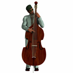Click to download the 'Bass Fiddle (for Poser)'
