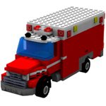 Click to download the 'Brick Ambulance (for Poser)'