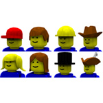 Click to download the 'Brick Hats and Hair (for Poser)'