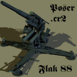 Click to download the 'FlaK 88cm (for Poser)'