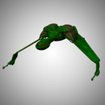 Click to download the 'Klingon Bird of Prey (for Poser)'
