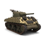 Sandbag Armor Add-on Sherman M4A3 (for Poser)