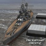 Click to download the 'Alternate Textures for USS Maryland'