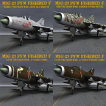 Click to download the 'MiG-21 PFM Fishbed F Alternate Textures'