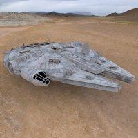 Millennium Falcon figure 'ad image'