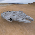Click to download the 'Millennium Falcon'