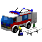 Modular Brick Mini Ambulance Set