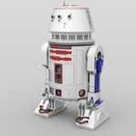 Click to download the 'R5 Astromech Droids (for DAZ Studio)'
