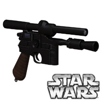 Click to download the 'DL-44 Heavy Blaster retrofitted legacy prop'