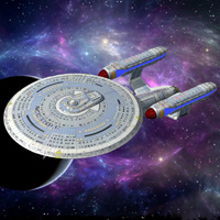 Click to download the 'USS Enterprise 1701-C (for Poser)'