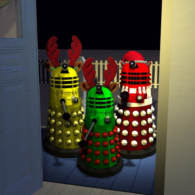 Caroling Daleks: Dalek Christmas Carols sound awful, but I recommend at least offering some hot chocolate and cookies.