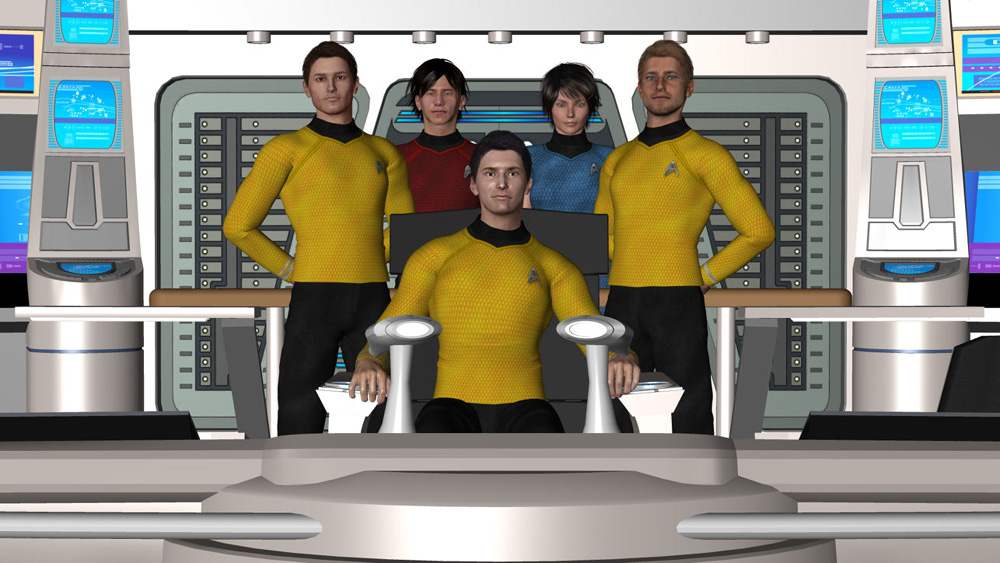 The Defiant Bridge Crew: This is a part of the USS Defiant NCC 1764 Crew in the alternative Timline(JJ Abrams Movies).It´s for a Fan Project.