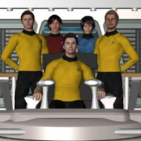 Click to see the full-sized image: 'The Defiant Bridge Crew'.