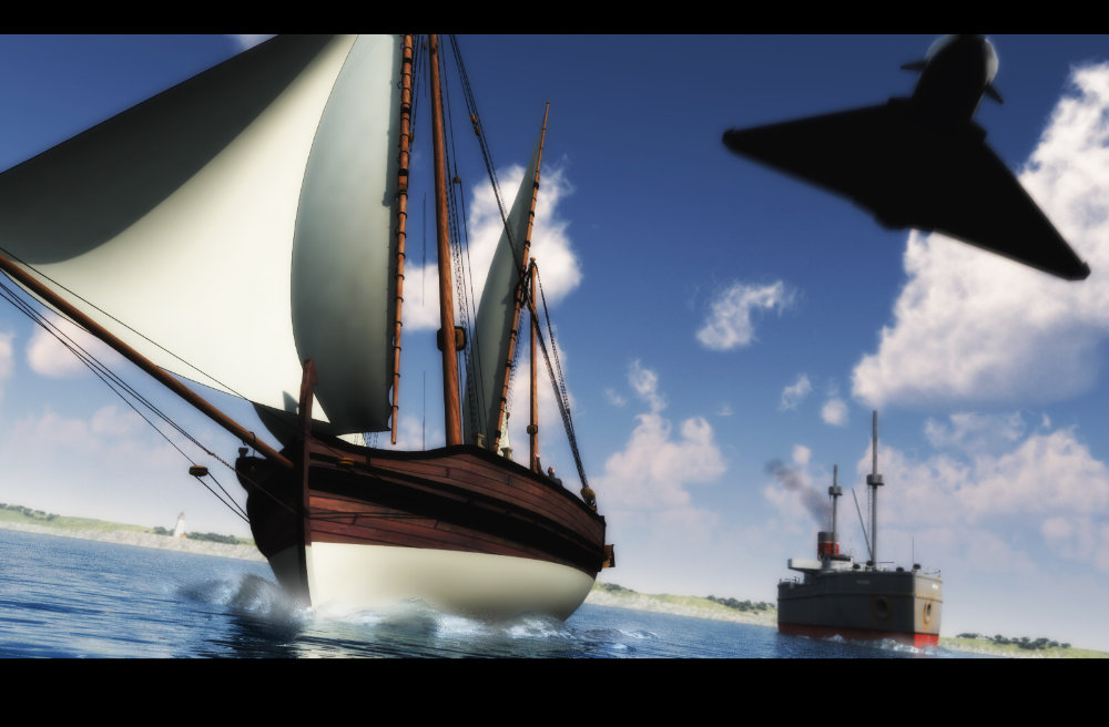 Transport of the Ages: A mix of Poser, Vue 6 Infinite and 3DS Max (with a hint of Photoshop and Painter).