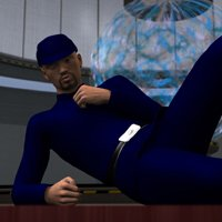 Galactic Officer Relaxes