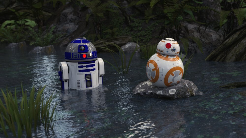 Droids in the Water: Just two droids sitting in the water...