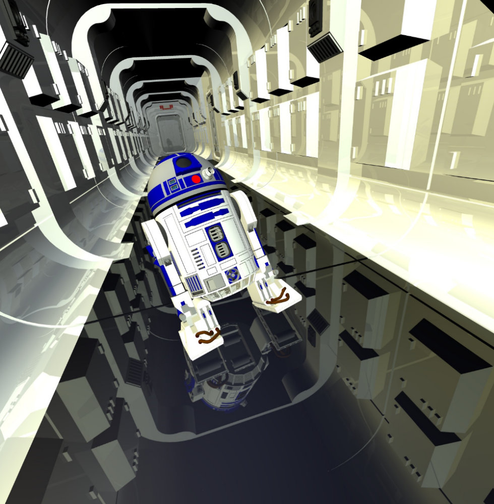 Don´t Drink and Drive: Starship hallway and R2-D2 freebie