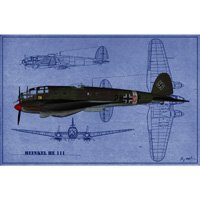 Click to see the full-sized image: 'Heinkel HE-111 Blueprint'.