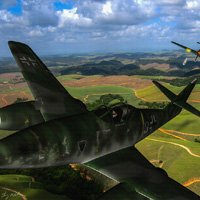 Click to see the full-sized image: 'Swatting down a Sparrow - Me-262'.