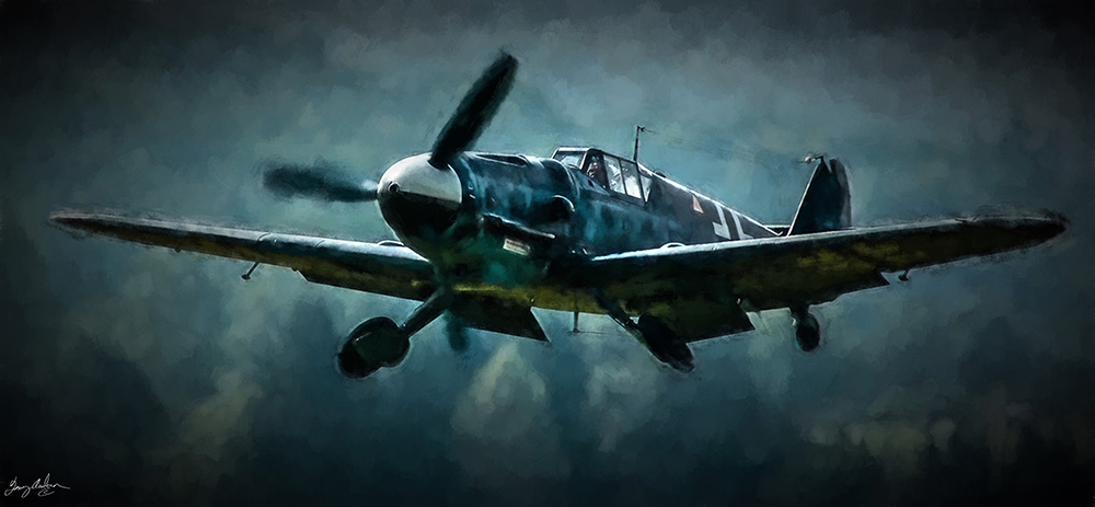 Messerschmitt Intercept: Made with the Bazze Me-109e, Daz3D, Lightroom, Photoshop, Alienware, and Topaz Impressionism.