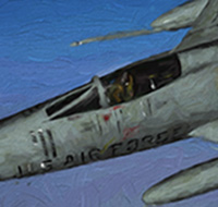 Click to see the full-sized image: 'Rolling Thunder North American F-100 Super Sabre'.