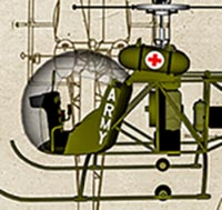 Click to see the full-sized image: 'US Army Bell 47 Sioux Korea Profile'.