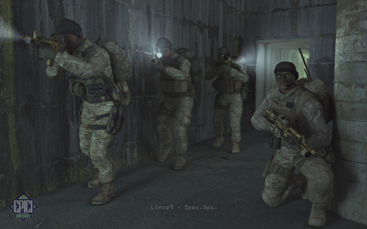 Lince9 Spec.Ops 01: Team members of Lince9, assigned to Special Operations at high risk.