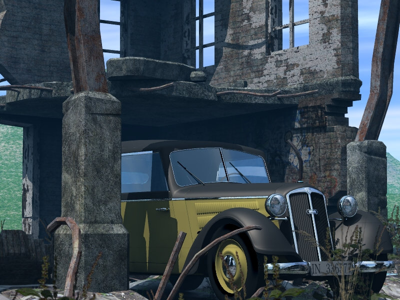 Broken Town: DKW-f8, converted to Poser from the original Gunpoint model under licence.