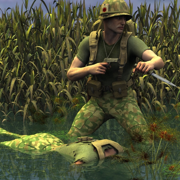 Mekong Delta: M3, BDU by EdW, Gear by Panko, face and pose by me.