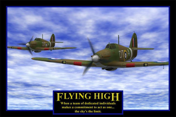 Hurricanes Flying High: An inspirational image using the famous WWII fighter: the Hurricane.